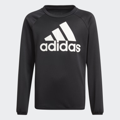 Polerón adidas Designed To Move Big Logo Negro Niño Training