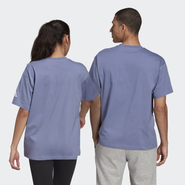 Sport Inspired สีม่วง เสื้อยืด Essentials Logo
