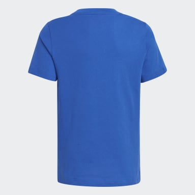 Youth 8-16 Years Gym & Training Blue Logo T-Shirt