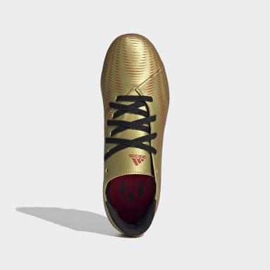 Children Football Gold Nemeziz Messi.4 Flexible Ground Boots