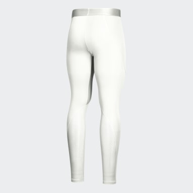 Youth Yoga White Alphaskin Baselayer Long Tights