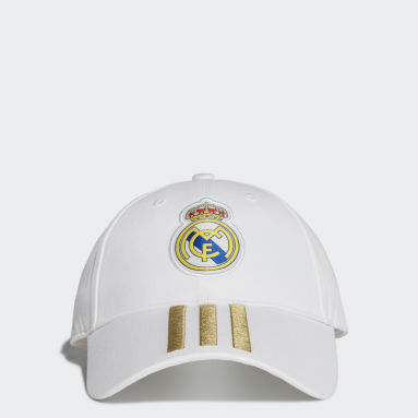 Football White Real Madrid 3-Stripes Cap