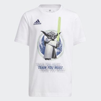 T-shirt Star Wars Yoda Graphic Real Madrid Bianco Ragazzo Basket