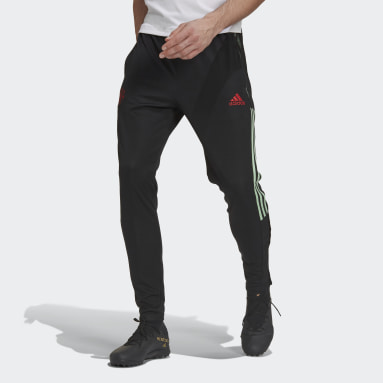 Men Football Black Manchester United Tracksuit Bottoms