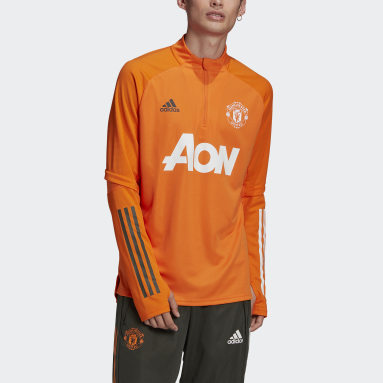 Training Top Manchester United Orange Hommes Football