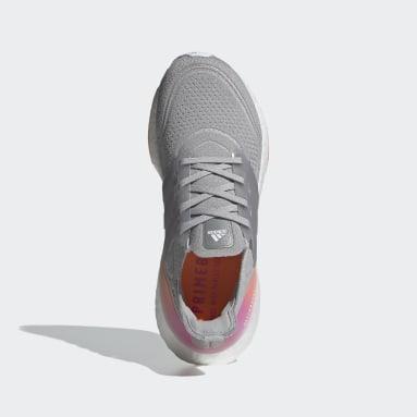 Tênis Ultraboost 21 Cinza Mulher Running