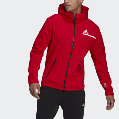 Men Sportswear Red adidas Z.N.E. Full-Zip Hoodie