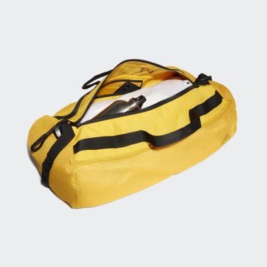 Women Handball Yellow Sports Mesh Duffel Bag