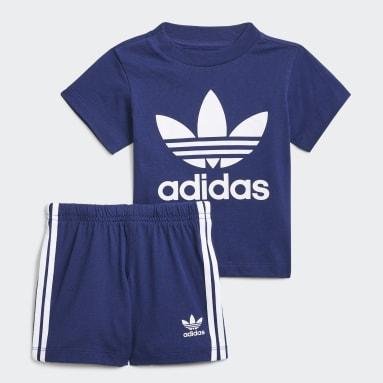 Kinder Originals Trefoil Shorts und T-Shirt Set Blau