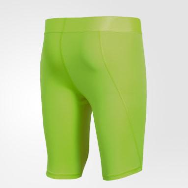 Calzas cortas Alphaskin Sport Verde Hombre Fútbol