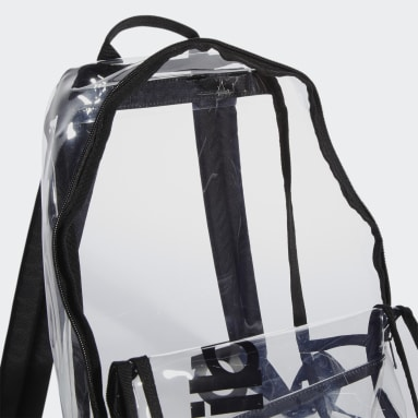 Essentials Black Clear Linear Backpack