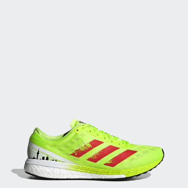 Running adizero Boston 9 BRLN Schuh Grün