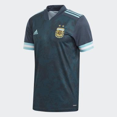 Kinderen Voetbal blauw Argentinië Uitshirt