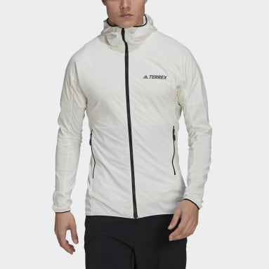Heren TERREX Wit Terrex Skyclimb Fleece Jack