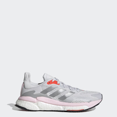 Women Running Grey SolarBoost 3 Shoes
