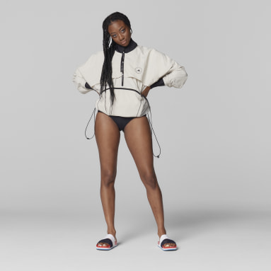 Veste adidas by Stella McCartney BeachDefender Run Swim Clean gris Femmes adidas by Stella McCartney