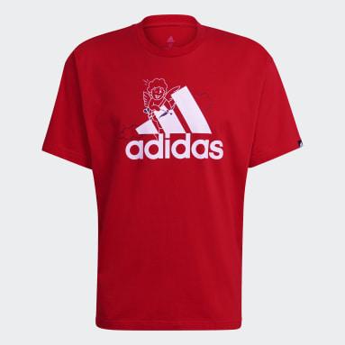 T-shirt adidas Valentine's Day Graphic Rouge Sportswear