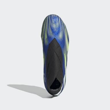 Boys Fodbold Blå Nemeziz+ Firm Ground støvler