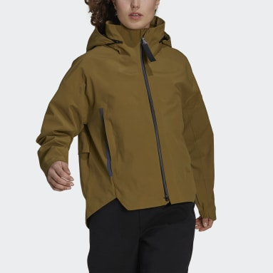 Dames City Outdoor Bruin MYSHELTER Regenjack