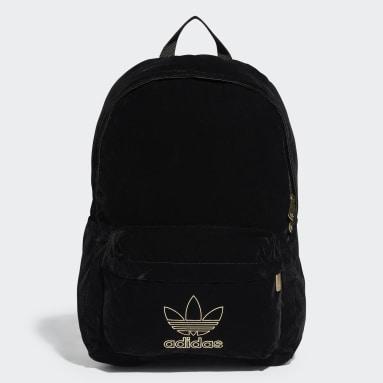 Kids Originals Black Adicolor Velvet Backpack