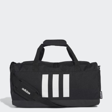 Lifestyle Black 3-Stripes Duffel Bag Small