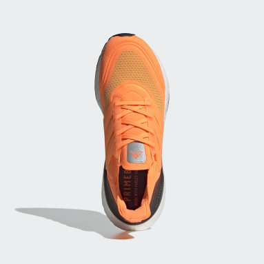 Men Running Orange Ultraboost 21 Shoes