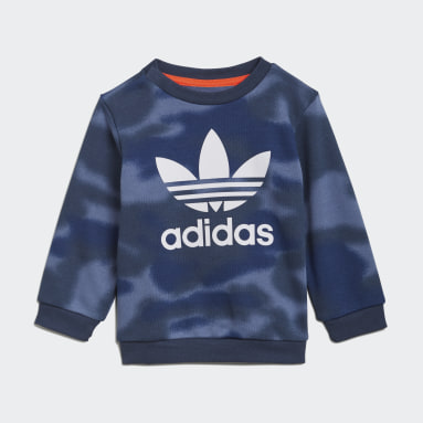 Jungen Originals Allover Print Camo Set Blau