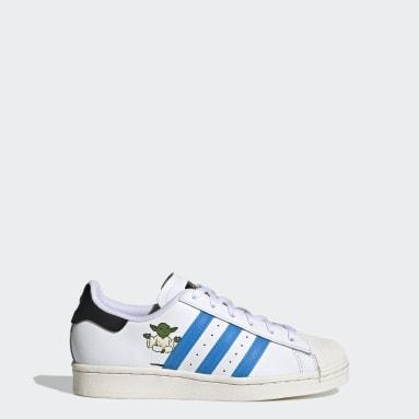 Kinder Originals Superstar Star Wars Schuh Weiß