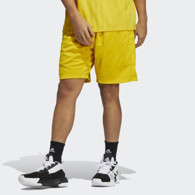 Men Basketball Yellow Daniel Patrick x adidas Basketball Shorts