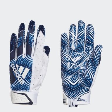 Football Blue Adizero 9.0 Zubaz Receiver Gloves