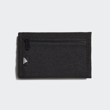 Tennis zwart Essentials Logo Portemonnee