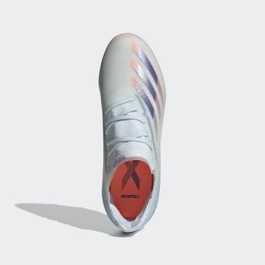 Chaussure X Ghosted.1 Terrain souple Bleu Enfants Football