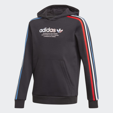 Kids Originals Black Adicolor Hoodie