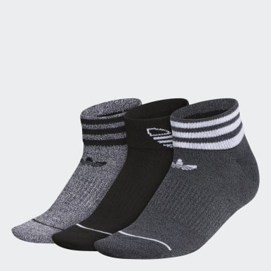 Women's Originals Black 3-Stripes Ankle Socks 3 Pairs