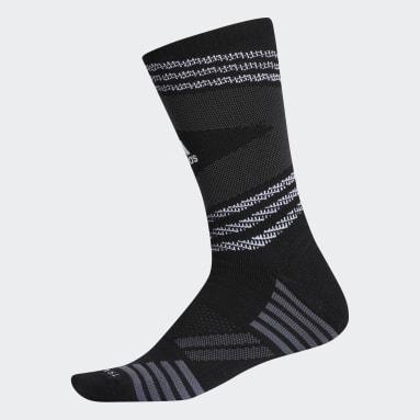 Men's Running Black Speed Mesh Team Crew Socks