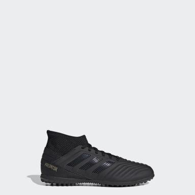 Children Soccer Black Predator Tango 19.3 Turf Shoes