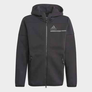 Hoodie Z.N.E. Full-Zip Nero Ragazzo Sportswear