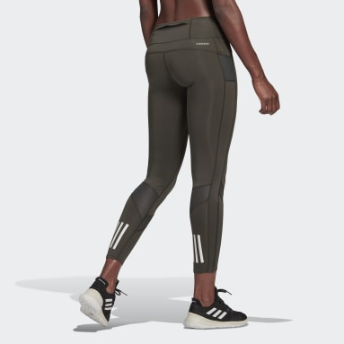 Legging Own the Run Verde Mulher Running