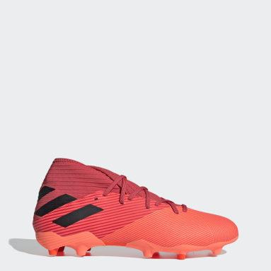 Zapatos de Fútbol Nemeziz 19.3 Terreno Firme Naranjo Mujer Fútbol