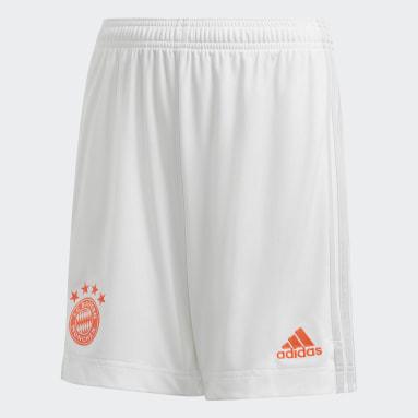 Kids Football White FC Bayern 20/21 Away Shorts