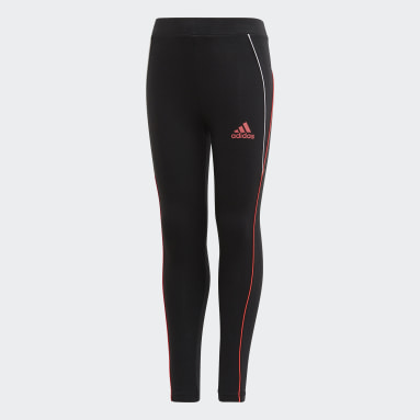 Girls Gym & Training Black Cotton Leggings