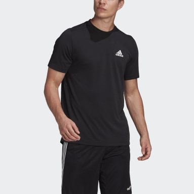 Men's Training Black AEROREADY Designed 2 Move Feelready Sport Tee