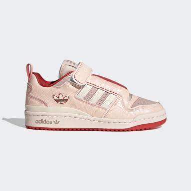 Women's Originals Pink Forum Plus Shoes