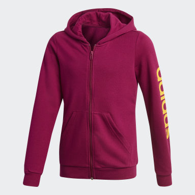 Girls Sportswear Burgundy Linear Hoodie