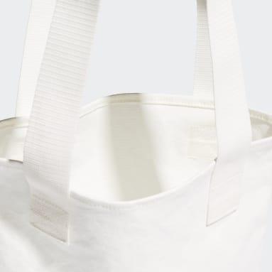ไลฟ์สไตล์ สีขาว กระเป๋าช้อปปิ้งผ้าแคนวาส
