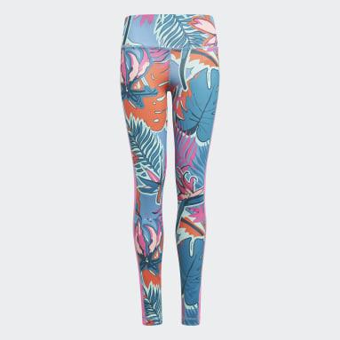 Mädchen Fitness & Training AEROREADY Allover Print Tight Weiß
