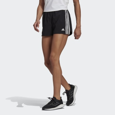 Women Training Black Primeblue Designed 2 Move Woven 3-Stripes Sport Shorts