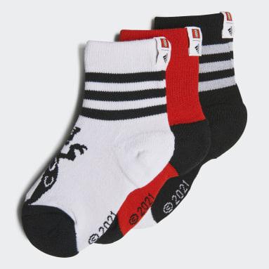 Děti Sports bílá Ponožky adidas x LEGO® NINJAGO® Crew - 3 páry