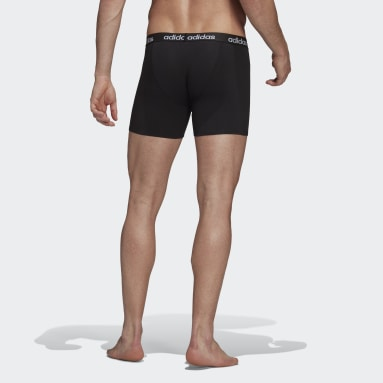 Heren Fitness En Training zwart Essentials Logo Boxershort 2 Stuks