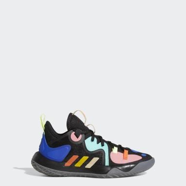 Genç Basketbol Siyah Harden Step-Back 2.0 Ayakkabı